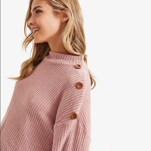 Chenille Knit Sweater With Buttons NWOT